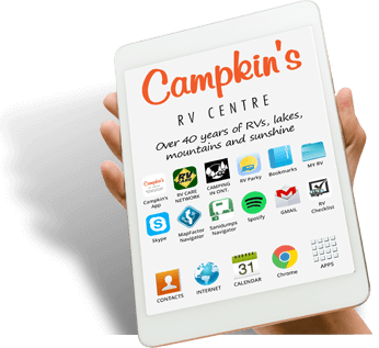 Recieve a Brand New Tablet with the Purchase of a New Trailer at Campkin's RV Centre